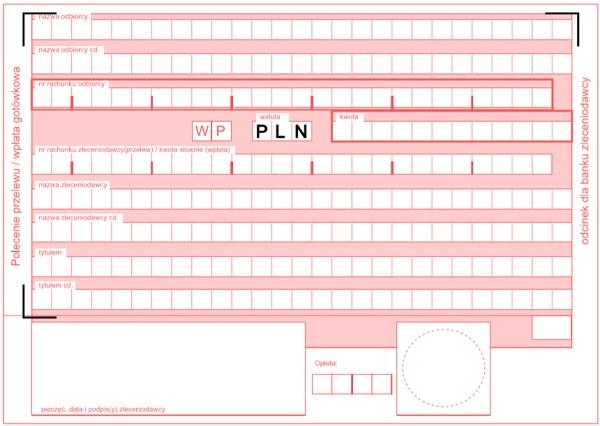 Pusty wzór druk przelewu pdf